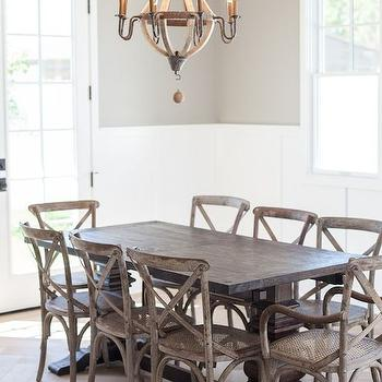 Wine Barrel Chandelier, Transitional, dining room, My Rafter House