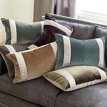 Pillow Trim Ideas: Green Velvet Pillow   Products  bookmarks  design  inspiration and    ,