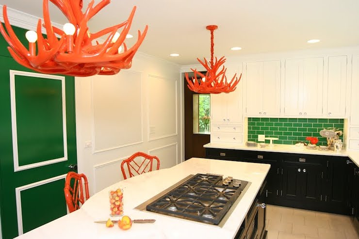 Orange chandeliers contemporary kitchen civility design orange chandeliers mozeypictures Images