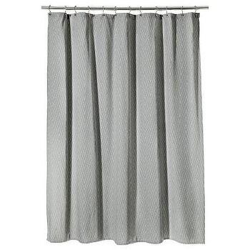 Threshold Gray Chevron Shower Curtain