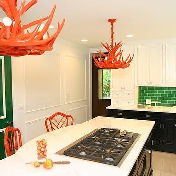 Orange Chandeliers, Contemporary, kitchen, Civility Design