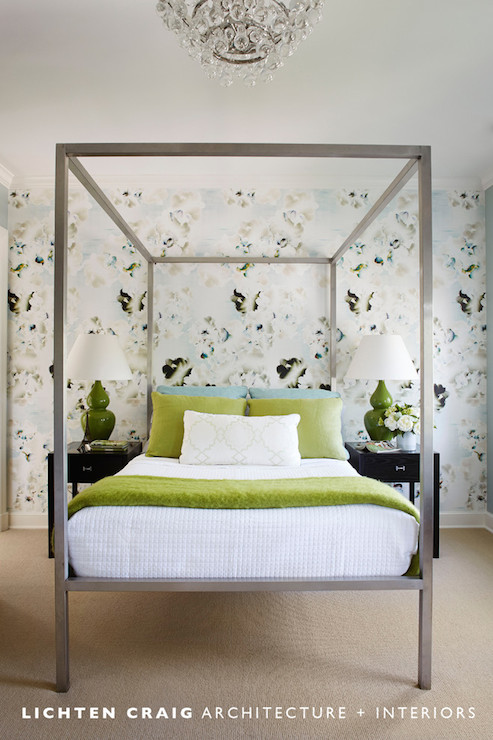 metal parsons bed - transitional - bedroom - lichten craig architects