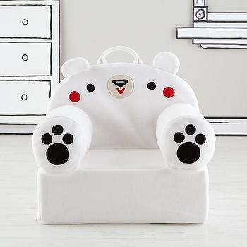 Executive Fuzzy Pet Nod Chair (Polar Bear) I Land of Nod