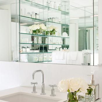 Mirrored Tray, Transitional, bathroom, Lichten Craig Architects