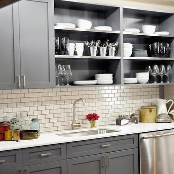 Open Kitchen Cabinets Contemporary Kitchen Olga