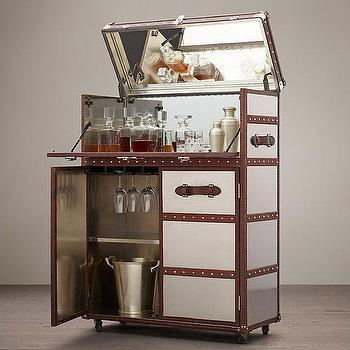 bar trunk furniture. Mayfair Brown And Silver Bar Cart Bar Trunk Furniture R