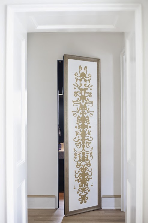 Secret doors contemporary entrance foyer lisa sherry for Secret door ideas