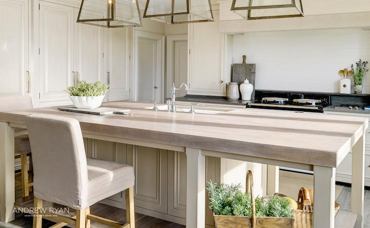 Weathered Oak Countertops - Transitional - kitchen ...