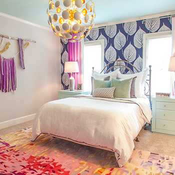 Purple Curtains, Contemporary, girl's room, Lucy and Company