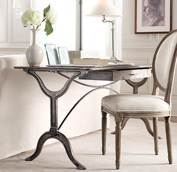 Dahlia White Marble Desk