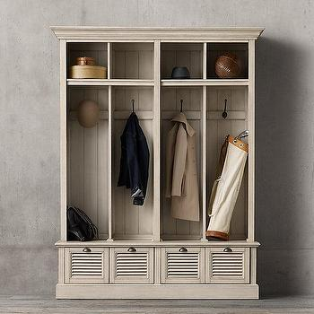 Gentil Shutter 4 Bin Ivory Entry Locker