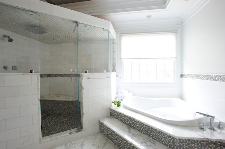 Shower Over Corner Bath corner bathtub - transitional - bathroom - lillian august