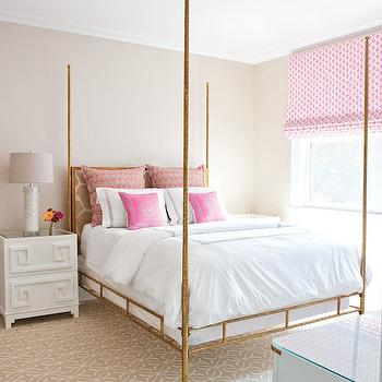 Gold Bed, Transitional, girl's room, Lillian August