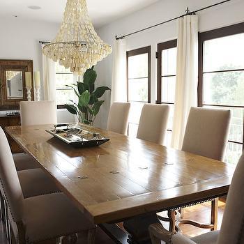 Capiz Chandelier, Transitional, dining room, Lillian August