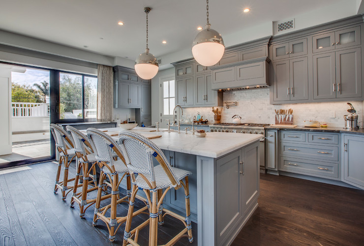 view full size gray kitchen boasts gray cabinets - Blue Grey Kitchen Cabinets