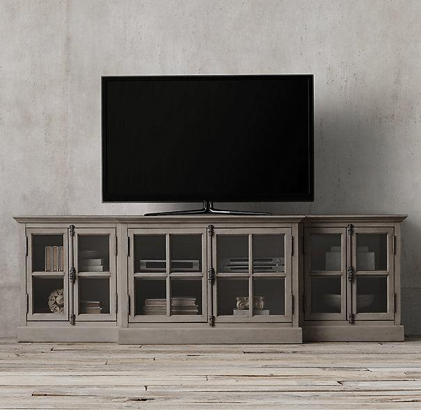 French Casement Glass Media Console I Restoration Hardware