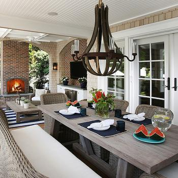 Outdoor Dining Furniture, Cottage, deck/patio, Beach Dwellings Interior