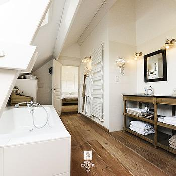 Attic Bathrooms, Transitional, bathroom, Royal Roulotte