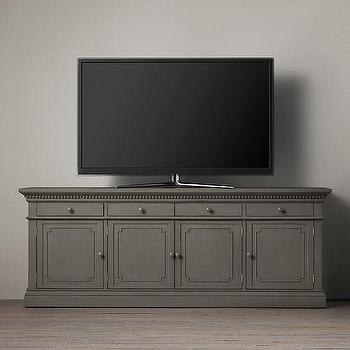 Ordinaire St James Grey Panel Media Console