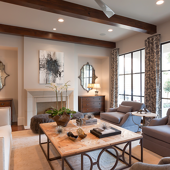 Mirrors Over Sofa Contemporary Living Room