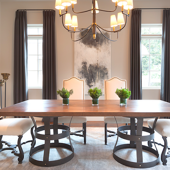 Wood and Iron Dining Tables, Transitional, dining room, David James Custom Builders
