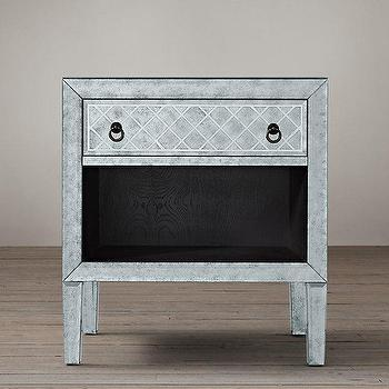 18th C. Venetian Cut-Glass Open Nightstand I Restoration Hardware