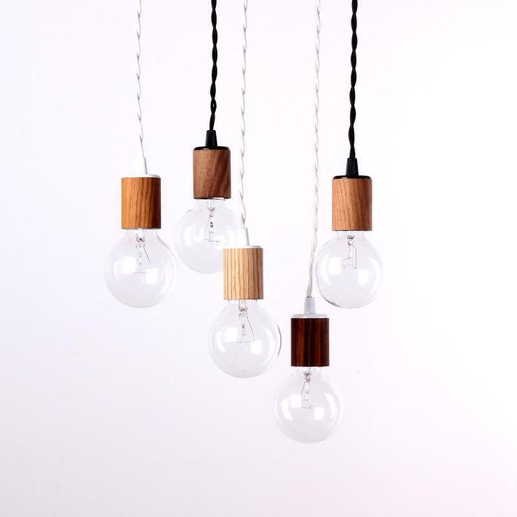 Wood veneer pendant lamp brown wood veneer pendant lamp mozeypictures Choice Image