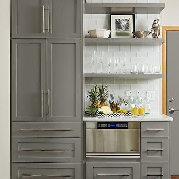 Grey Kitchen Cabinets - Transitional - Kitchen - Benjamin ...
