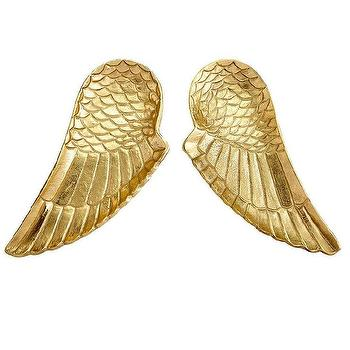 Gold Angel Wings Trays I Wisteria