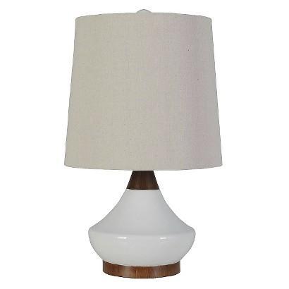 Threshold Ceramic White Table Lamp