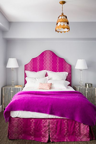 Pink And Gray Bedrooms Contemporary Bedroom Farrow