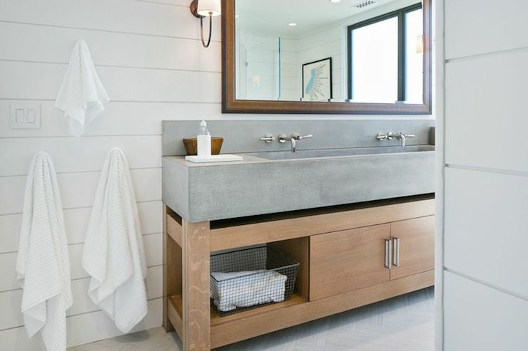 Concrete Sink Cottage Bathroom M Elle Design