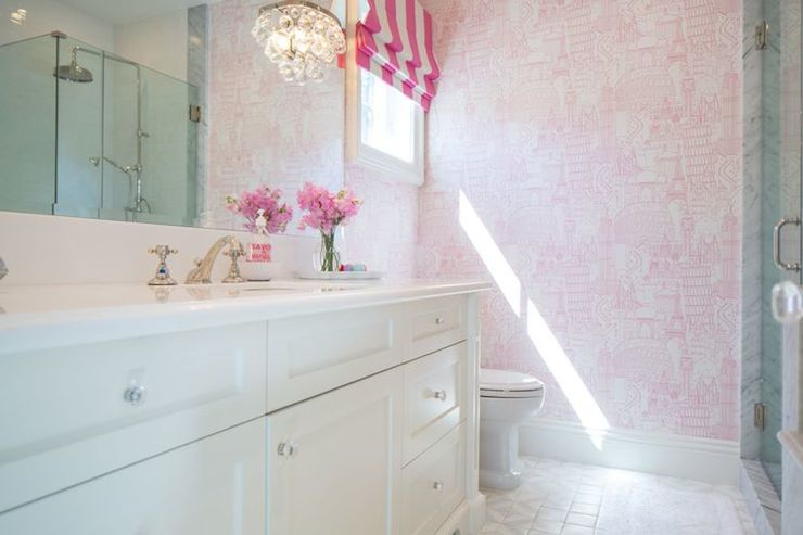Pink Parisian Wallpaper