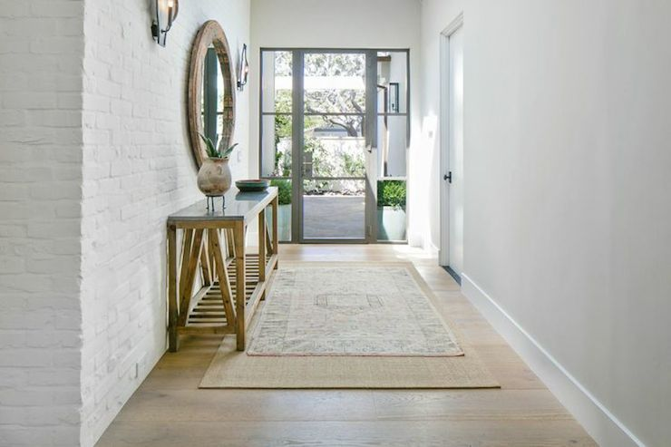 Best Foyer Rug : Layered rugs transitional entrance foyer kelly nutt