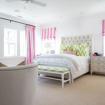 Candy Stripe Curtains, Contemporary, girl's room, Kelly Nutt Design
