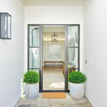 Sidelights, Transitional, home exterior, Kelly Nutt Design