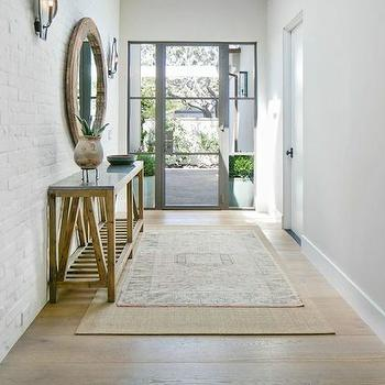 Layered Rugs, Transitional, entrance/foyer, Kelly Nutt Design