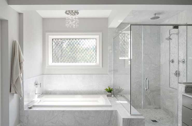 Shower Tub Combo - Transitional - bathroom - Summit Signature Homes