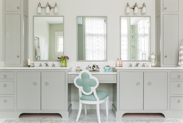 Mint Green Vanity Chair