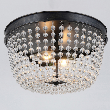 Beaded Flush Mount Look 4 Less and Steals and Deals