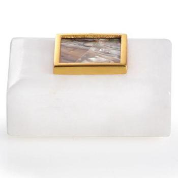 Alabaster Box With Abalone, Z Gallerie