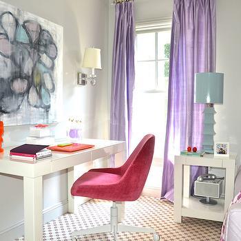 Pagoda Table Lamp, Contemporary, girl's room, Farrow and Ball Elephants Breath, D2 Interieurs