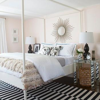 Mirrored Tables, Contemporary, bedroom, Erin Gates Design