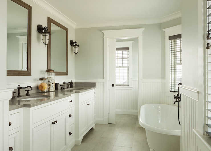 Beadboard Wainscoting Cottage Bathroom Js Interiors