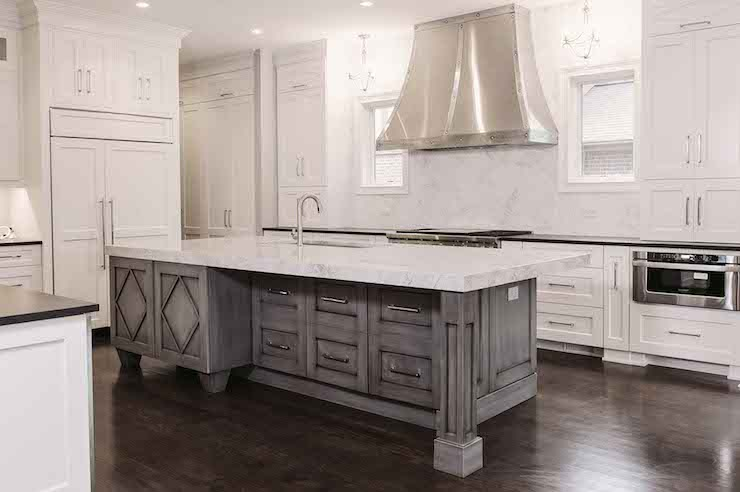 White Distressed Kitchen Hood  Design, decor, photos, pictures, ideas