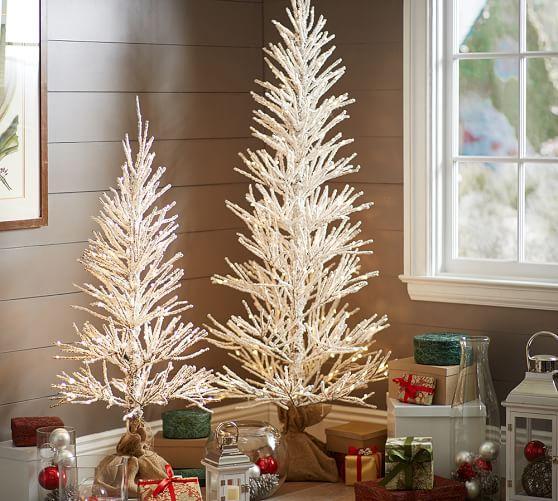 White Glitter Tree World Market
