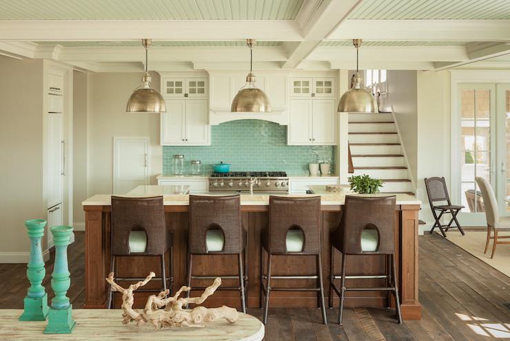 Blue and brown kitchens cottage kitchen js interiors for Blue and brown kitchen