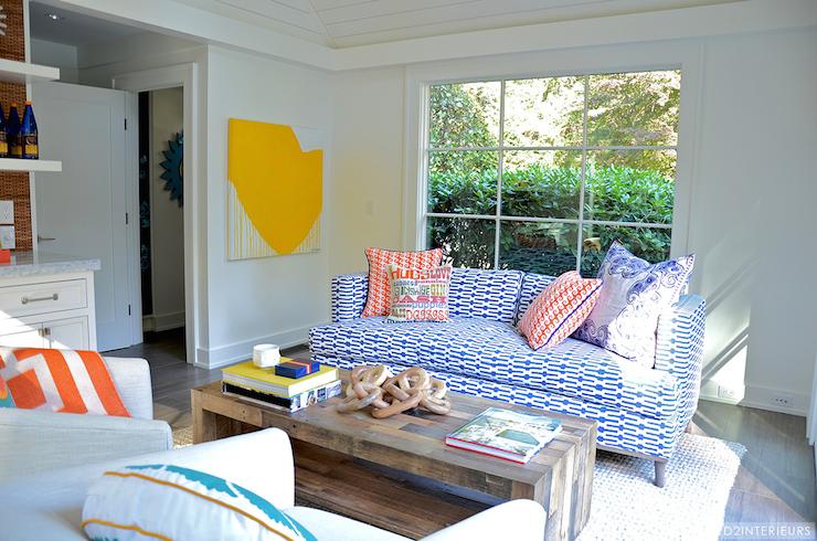 Blue Print Sofa Contemporary Living Room D2 Interieurs