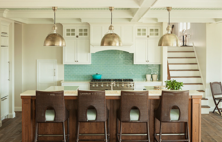 Fabulous Turquoise Subway Tiles - Transitional Kitchen - JS Interiors JA07