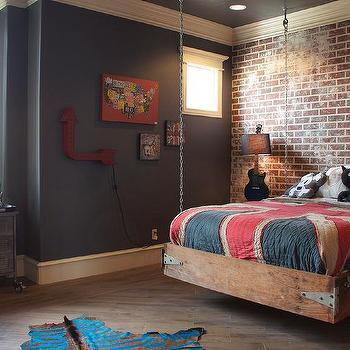 Hanging Kids Bed, Eclectic, Boy's Room, Bella Vici Interiors